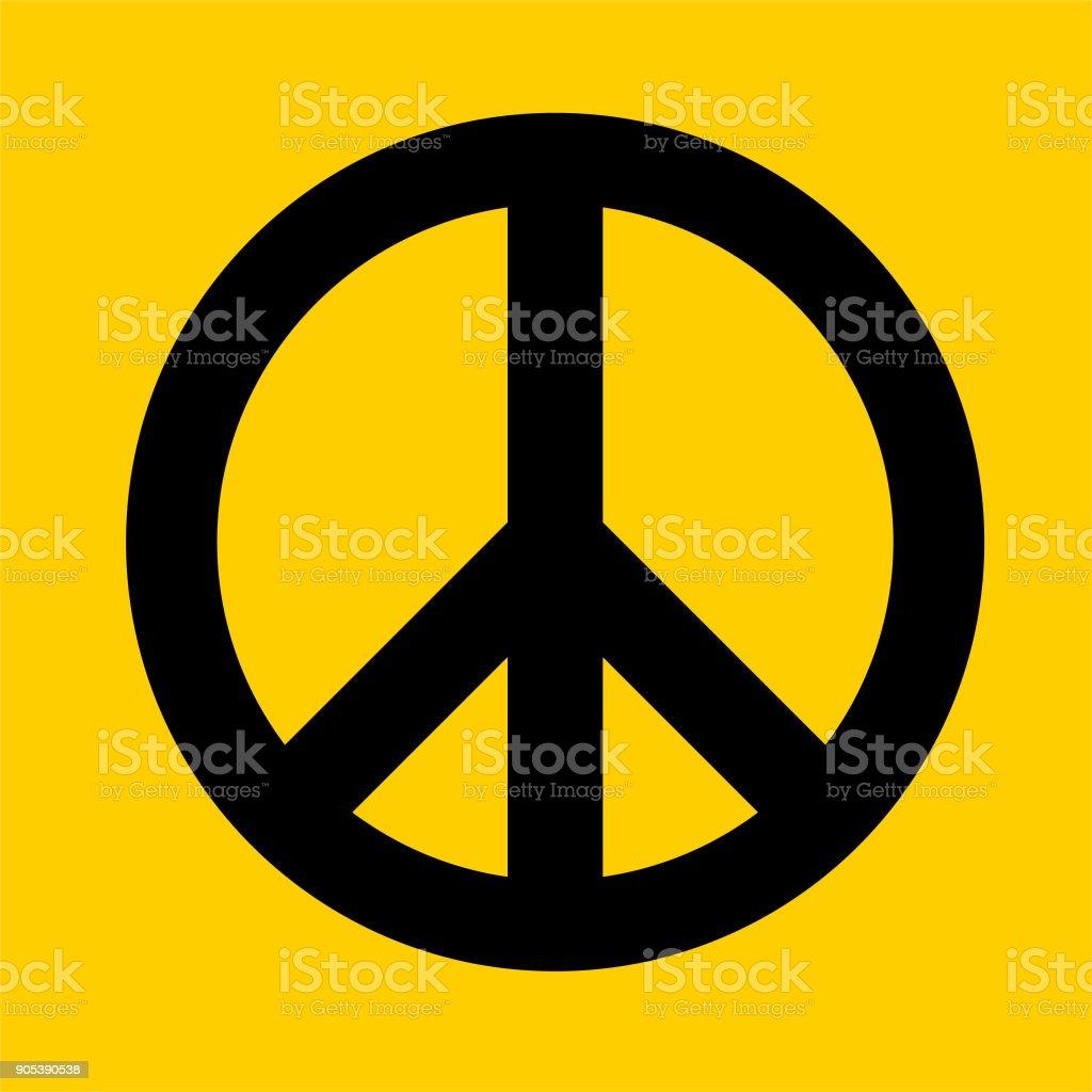 Peace Sign. vector art illustration