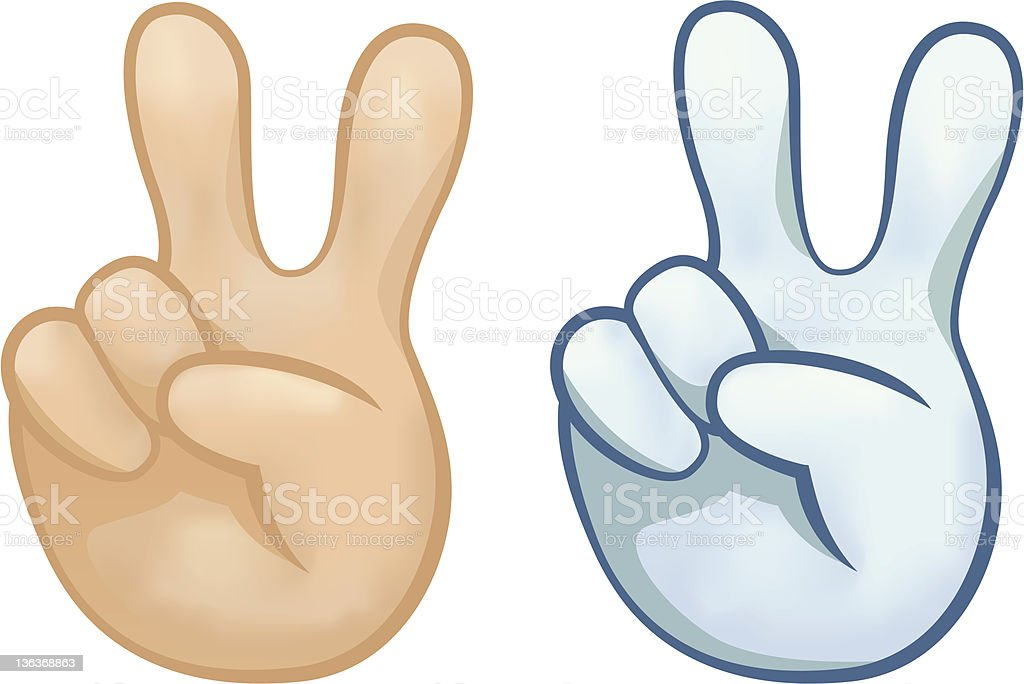Peace signs royalty-free stock vector art