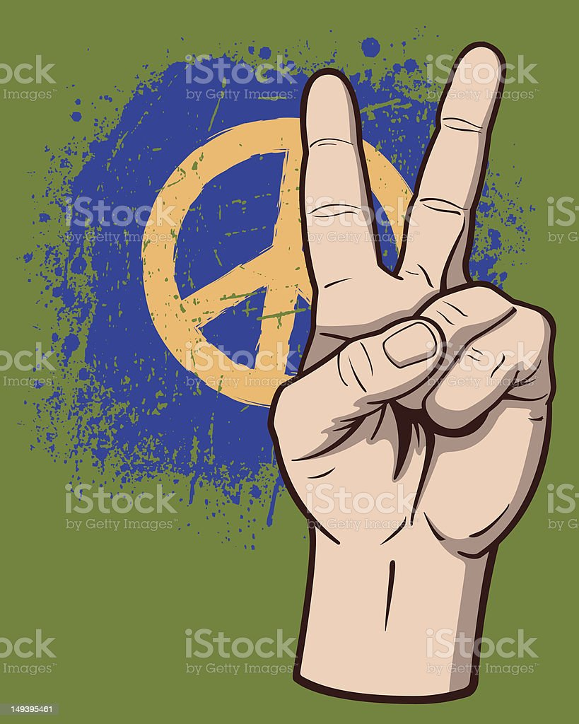 Peace Signs vector art illustration