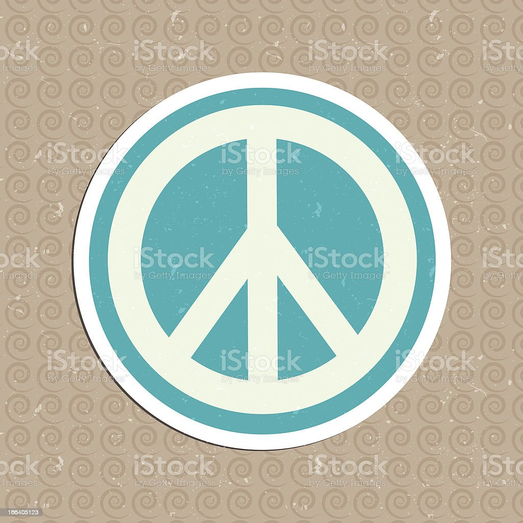 peace sticker royalty-free peace sticker stock vector art & more images of 60-64 years