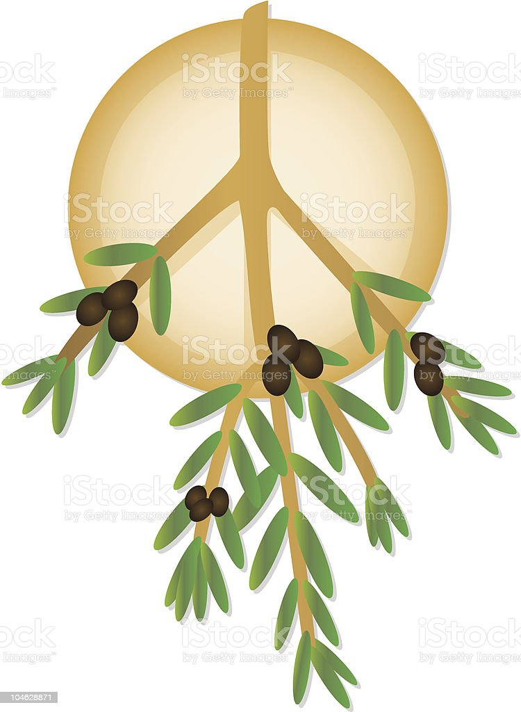 Peace Symbol Olive Branch Icon Stock Vector Art More Images Of