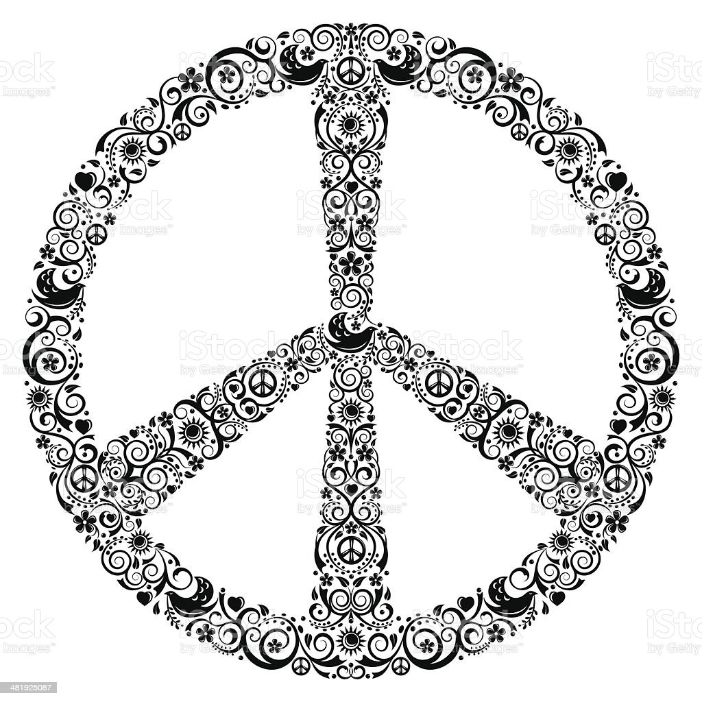 Peace Symbol royalty-free peace symbol stock vector art & more images of cut out