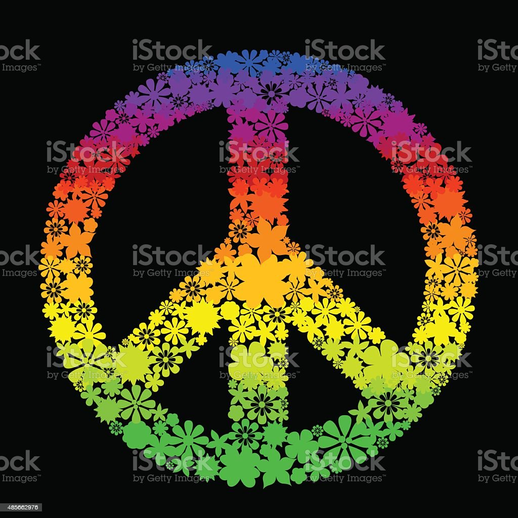 peace symbol vector art illustration