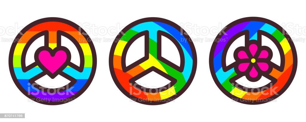 Peace symbol vector illustration vector art illustration