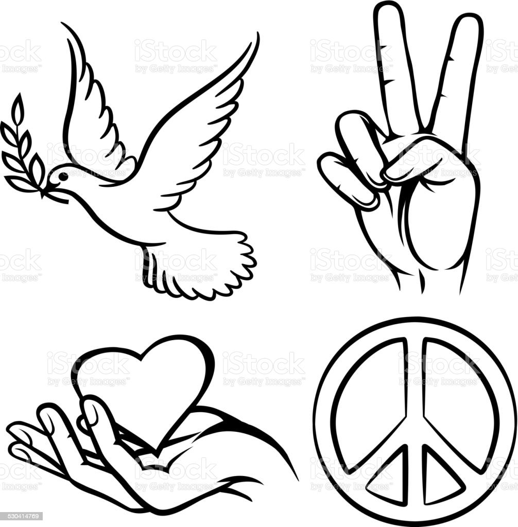 Peace symbols stock vector art more images of bird 530414769 peace symbols royalty free peace symbols stock vector art amp more images of bird buycottarizona