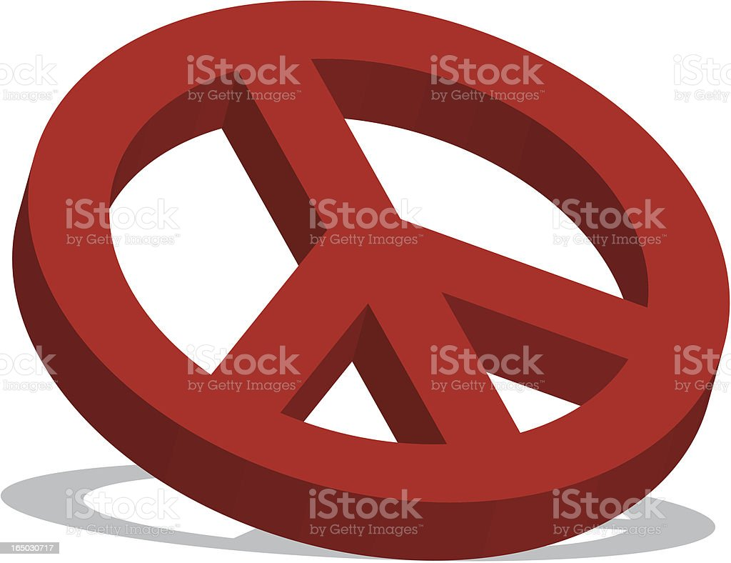 3D Peace vector art illustration