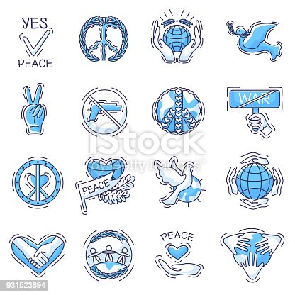 Peace Vector Peaceful Symbol Of Love And Peacefulness Or