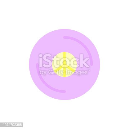 istock Peace, vinyl icon. Simple color vector elements of flower children icons for ui and ux, website or mobile application 1254702366