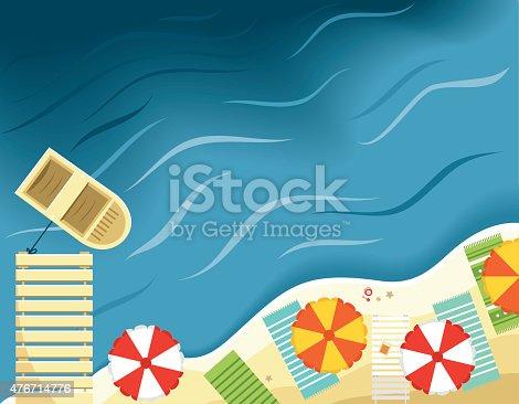 easy editable vector beach...