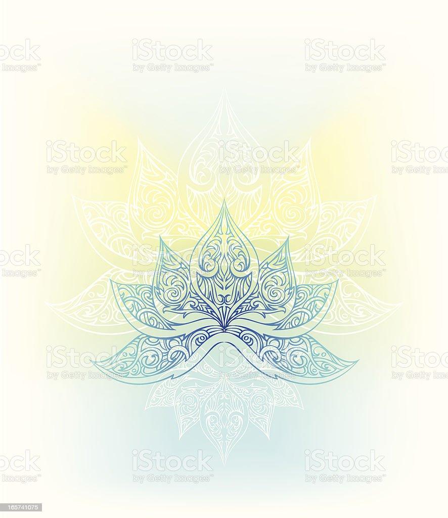 peaceful lotus royalty-free stock vector art