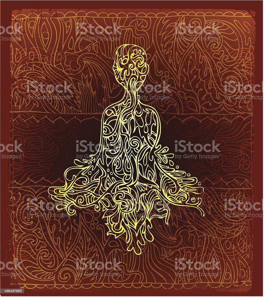 peaceful presense vector art illustration