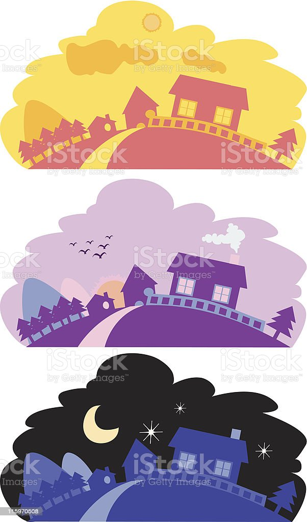 Peaceful scenery royalty-free stock vector art