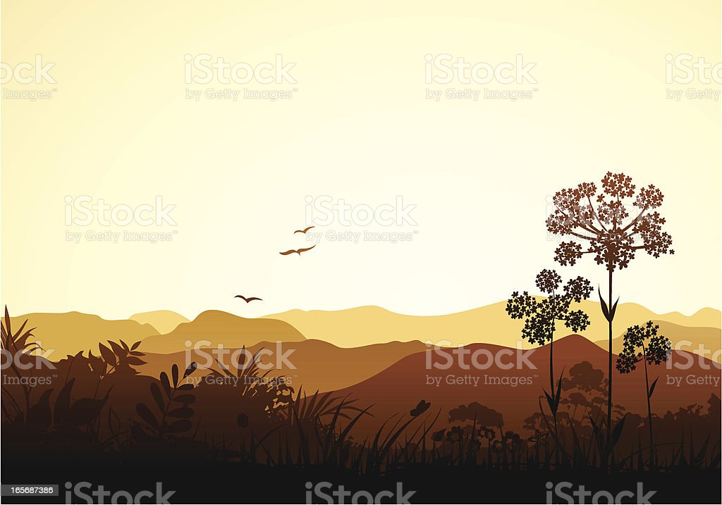 Peaceful Valley royalty-free stock vector art