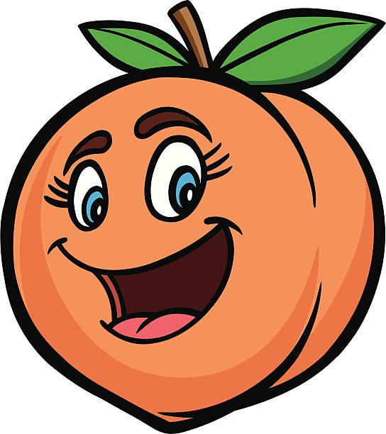 Смешная картинка персика