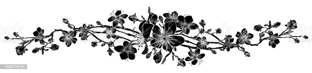 Ilustración De Elemento De Diseño De Flor De Cerezo Durazno Flor