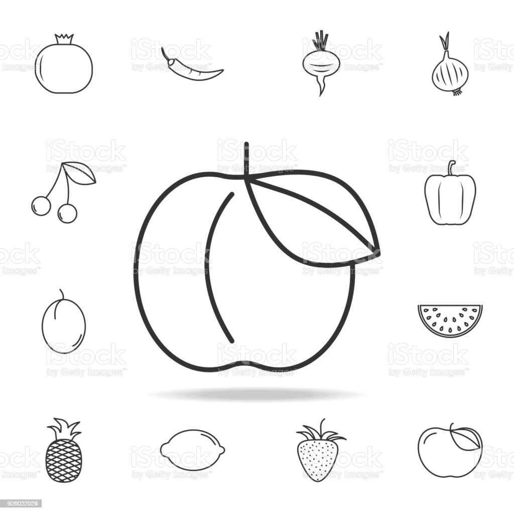 Peach icon set of fruits and vegetables icon premium quality peach icon set of fruits and vegetables icon premium quality graphic design signs buycottarizona Images