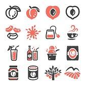 peach icon set