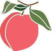 peach in color