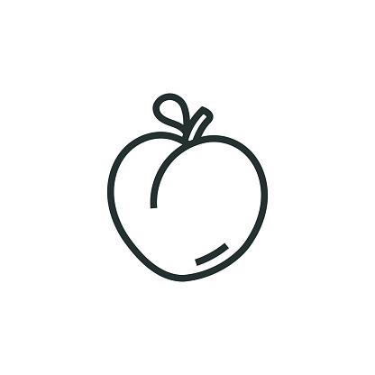 Peach Line Icon