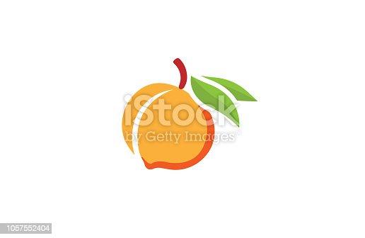 Peach Orange Logo Symbol Vector Design Illustration