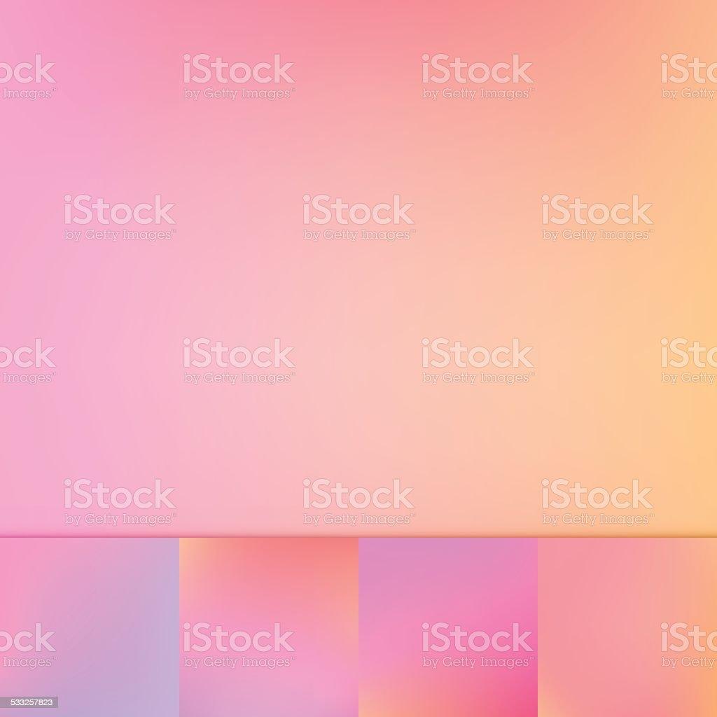 Rosa Pesca Multicolore Di Sfocatura Sfondo Vettoriale Gradiente