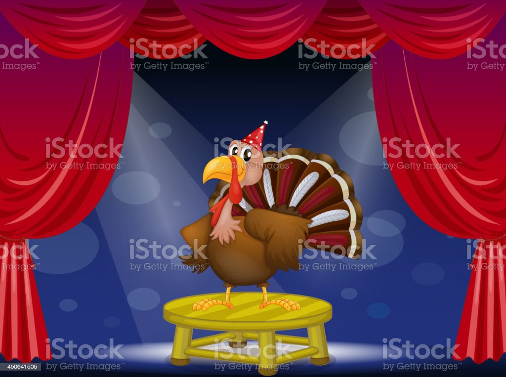 Peacock at the center of  stage royalty-free peacock at the center of stage stock vector art & more images of animal