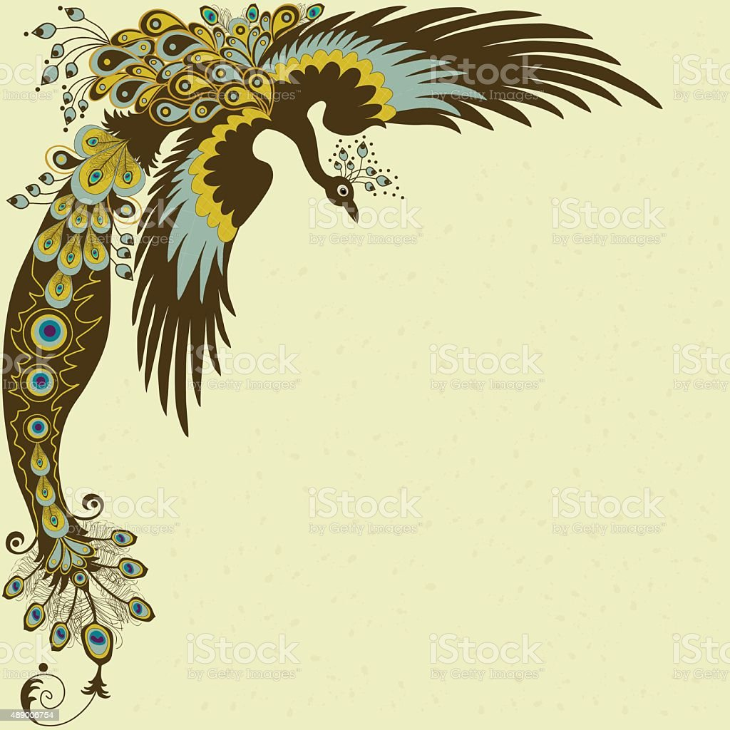 peacock card stock vector art more images of 2015 489006754 istock