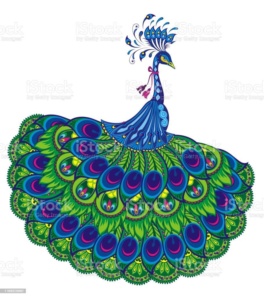 Vetores De Fantasia Do Desenho Do Pavao E Mais Imagens De Animal
