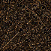 Peacock feathers royal pattern seamless. Luxury background vector. Premium design for wallpaper, birthday gift wrapping paper, beauty spa salon, indian wedding party, holiday christmas card.