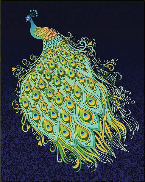 текстурированный фон в темно-синий - peacock stock illustrations