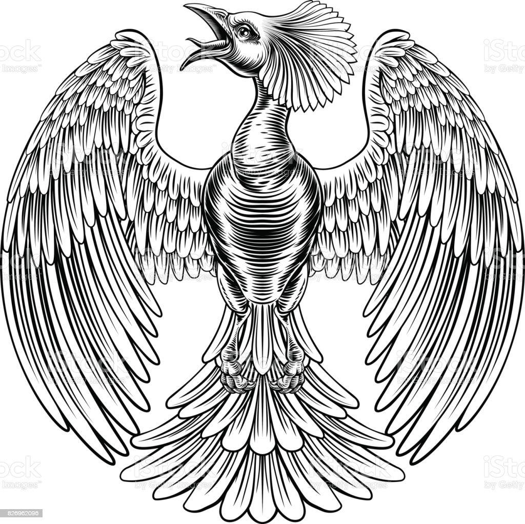 Ilustración de Diseño De Ave Fénix De Pavo Real y más banco de ...