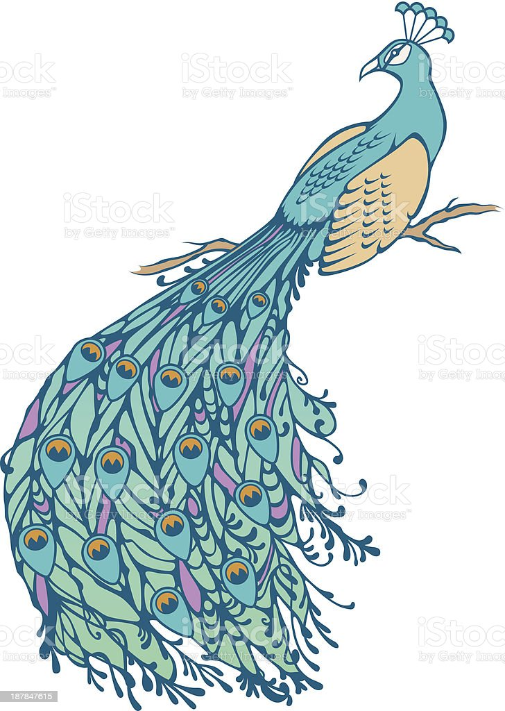 Peacock royalty-free peacock stock vector art & more images of art nouveau
