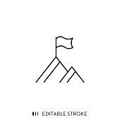 istock Peak Icon with Editable Stroke and Pixel Perfect. 1180268913