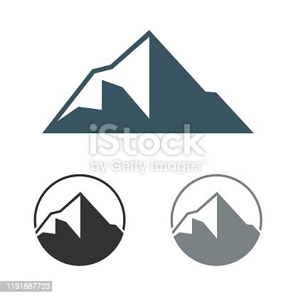 Peak of Mountain Logo Template Illustration Design. Vector EPS 10.