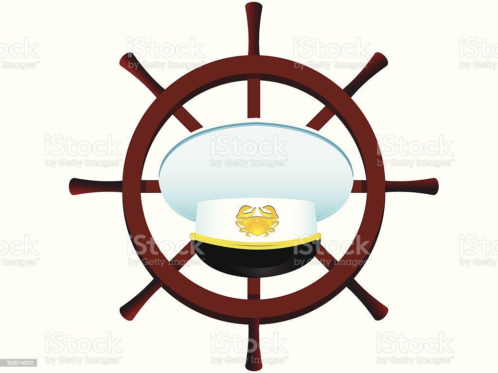 Peak-cap of the captain vector art illustration