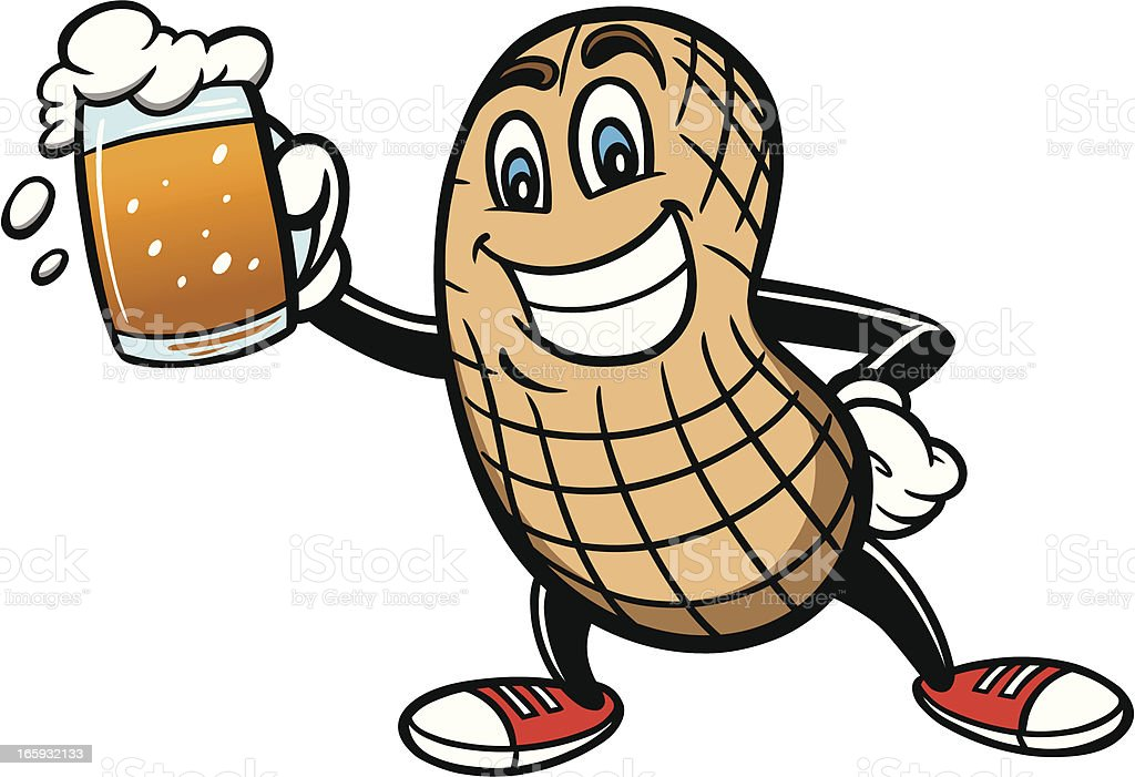 Peanut and Beer royalty-free stock vector art