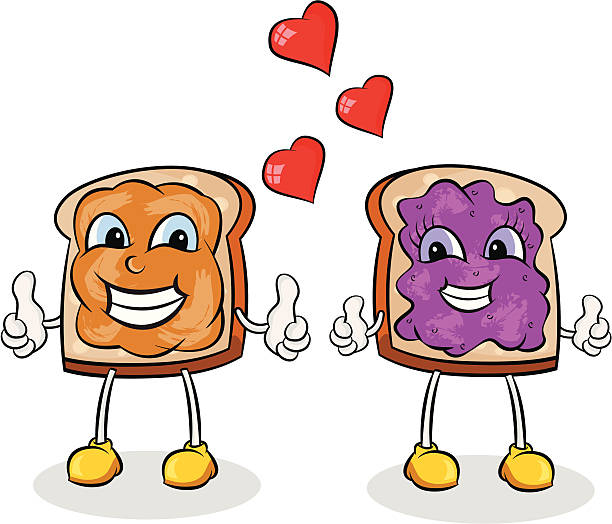 Best Peanut Butter And Jelly Sandwich Illustrations ...
