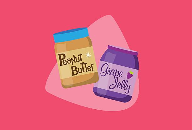 ilustrações de stock, clip art, desenhos animados e ícones de manteiga de amendoim e geleia - jam jar