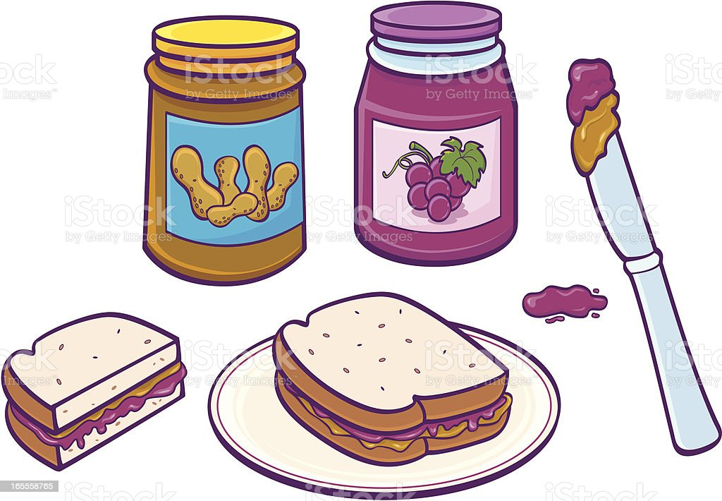 royalty free peanut butter and jelly sandwich clip art vector rh istockphoto com peanut butter and jelly sandwich black and white clipart peanut butter and jelly clip art free