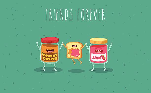 ilustrações de stock, clip art, desenhos animados e ícones de manteiga de amendoim - jam jar