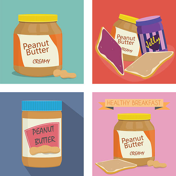 Peanut butter Peanut butter jelly jello stock illustrations