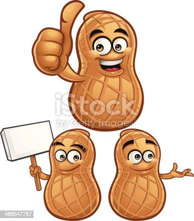istock Peanut Cartoon Set C 489547787