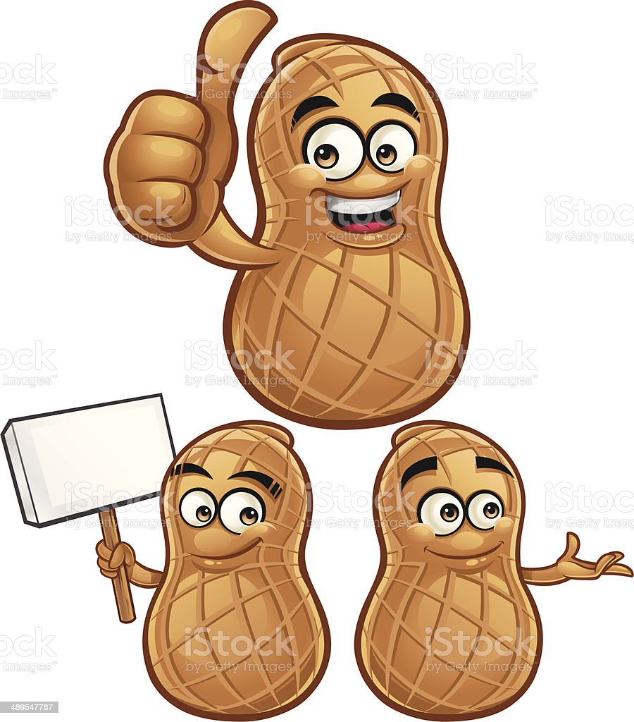 Peanut Cartoon Set C vector art illustration