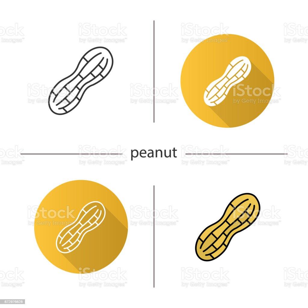 Ícone de amendoim - ilustração de arte em vetor