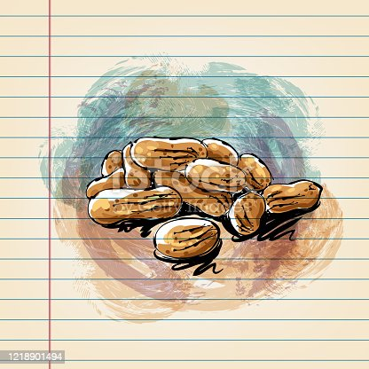 istock Peanuts Drawing on Ruled Paper 1218901494