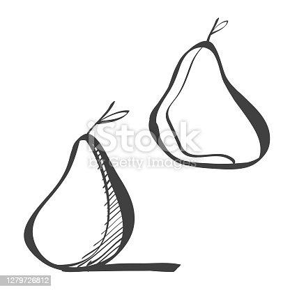 Pear cartoon illustrations