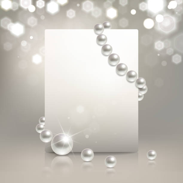 pearl banner - pearl jewelry stock illustrations, clip art, cartoons, & icons