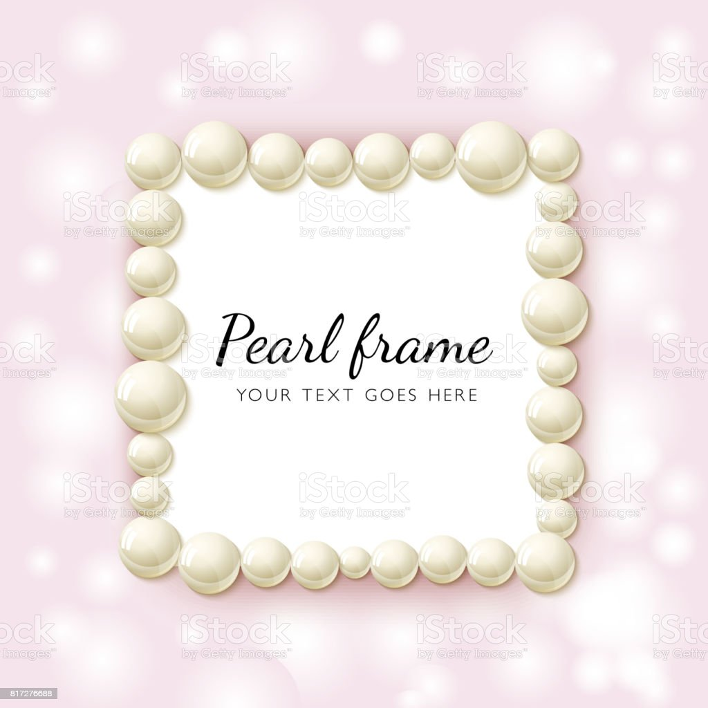 Pearl Beads Frame Stock Illustration Download Image Now Istock