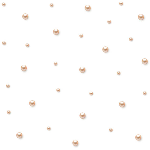 pearl. decoration. beads. jewelry. vector background. luxury. - pearl jewelry stock illustrations, clip art, cartoons, & icons