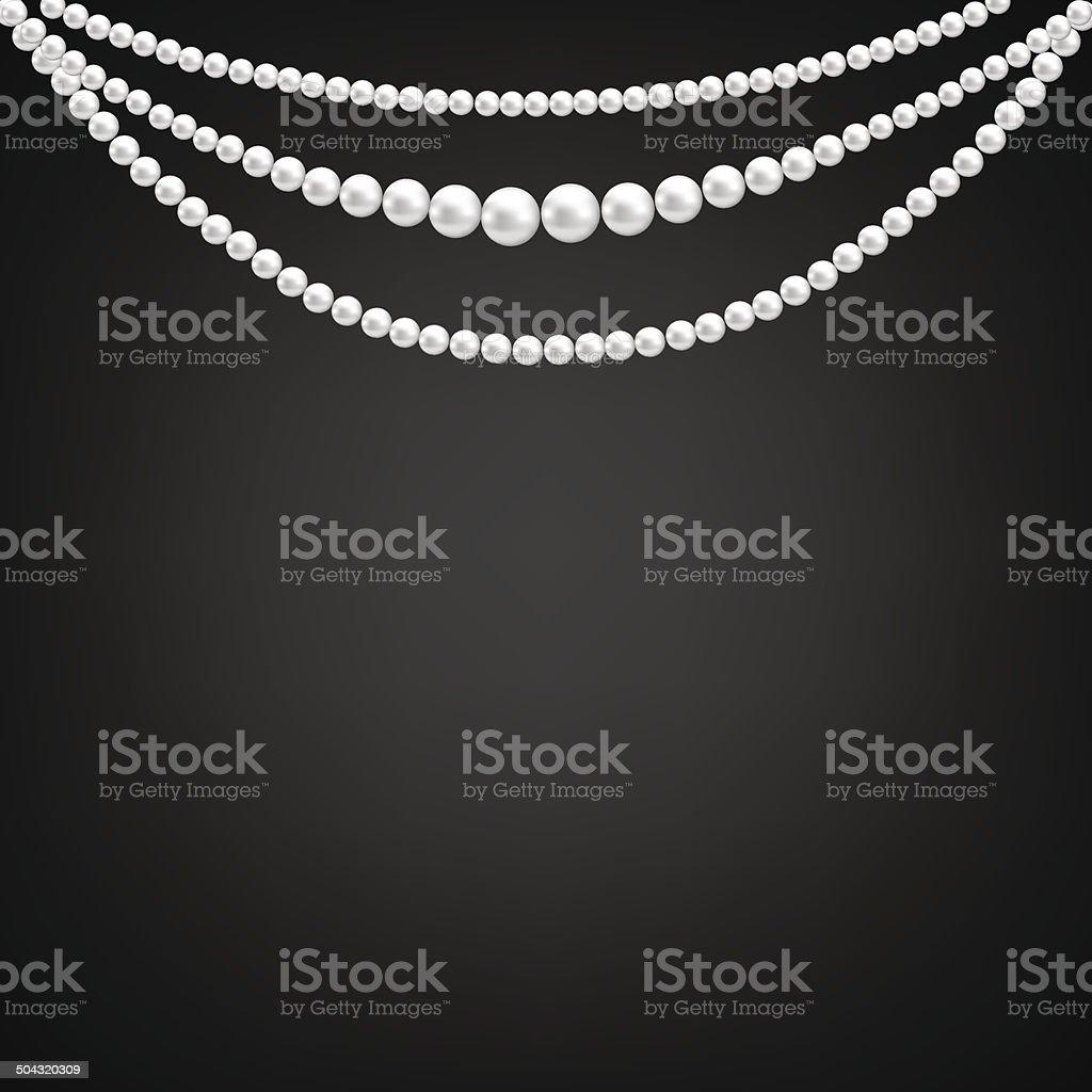 pearl decoration vector art illustration